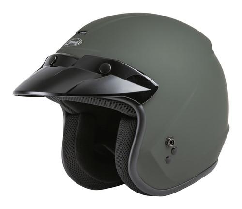 Gmax OF-2 Open-Face Helmet Matte Green