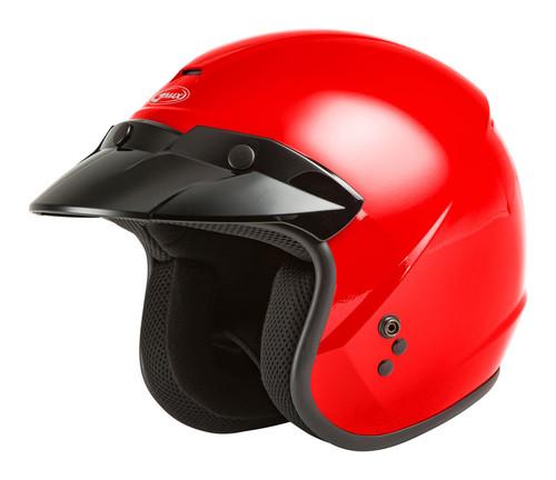 Gmax OF-2 Open-Face Helmet Red
