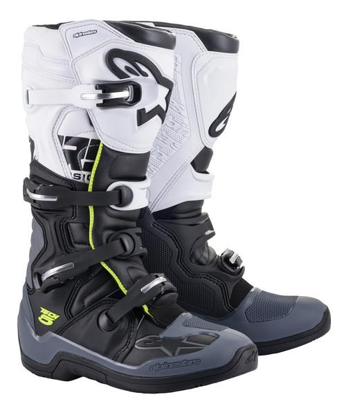 Alpinestars Tech 5 Black Dark Grey White Boots