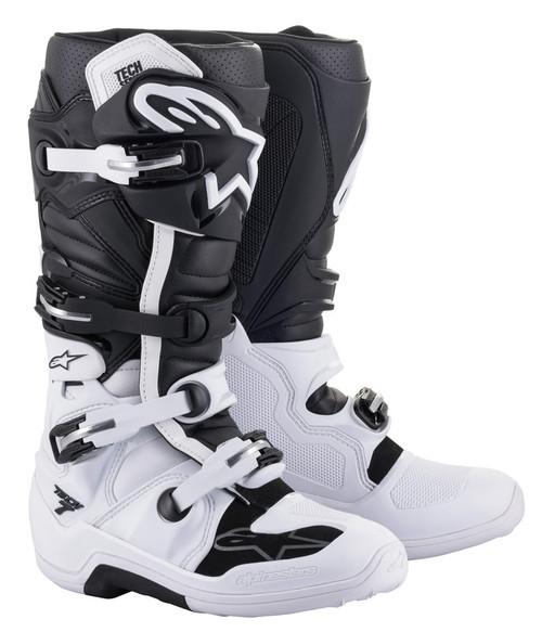 Alpinestars Tech 7 White Black Boots