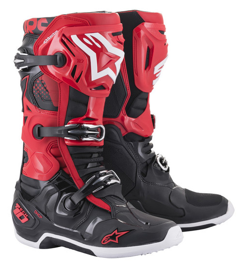 Alpinestars Tech 10 Red Black Boots