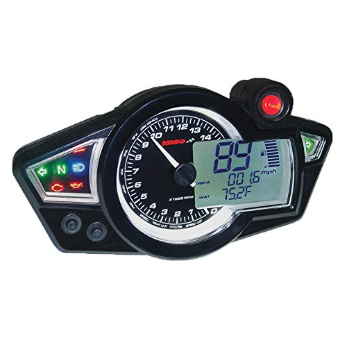 KOSO GP STYLE MULTI-FUNCTION GAUGE RX-1N WHITE PANEL (BA011B02)