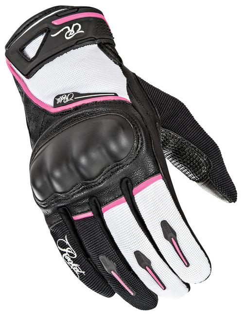Joe Rocket Super Moto Gloves Black / White / Pink Ladies