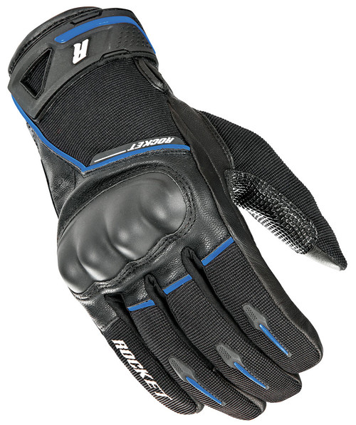 Joe Rocket Super Moto Gloves Black / Blue Mens