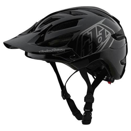 Troy Lee Designs A1 Drone Black Silver Youth Helmet