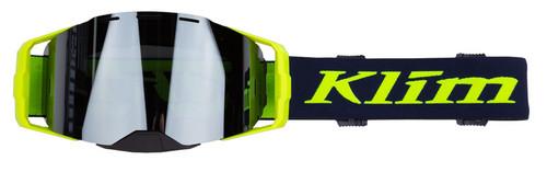Klim Edge Off-Road Goggle Focus Navy Blue Hi-Vis Dark Smoke Silver Mirror size OS