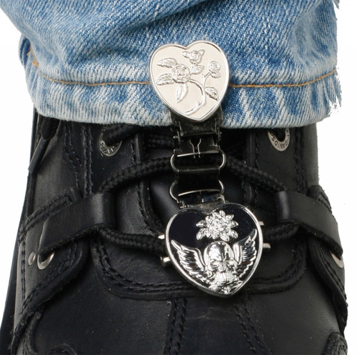 RYDER CLIPS LACED BOOT TYPE (HEART/SKULL CHROME) (HSLC-FC)