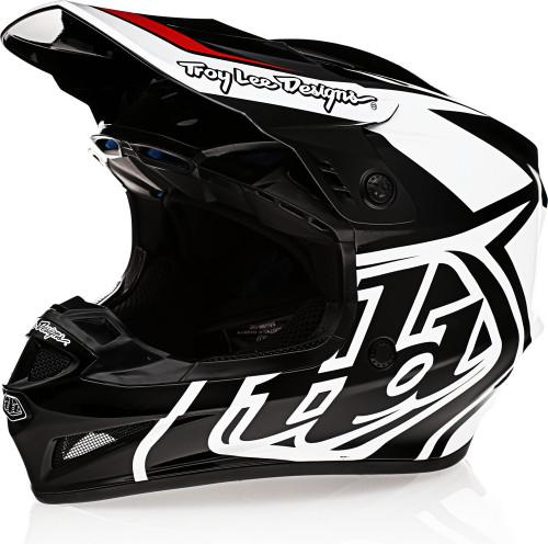 Troy Lee Designs GP Overload Black White Helmet