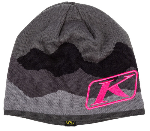 Klim Castlerock Gray-Knockout Pink Beanie