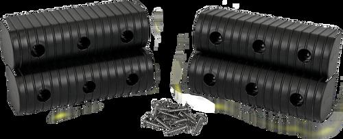 Caliber Bunk Wrap End Cap Kit 2X6 4/Pack W/ Hardware Black - 23053-BK