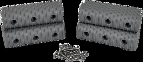 Caliber Bunk Wrap End Cap Kit 2X6 4/Pack W/ Hardware Grey - 23053