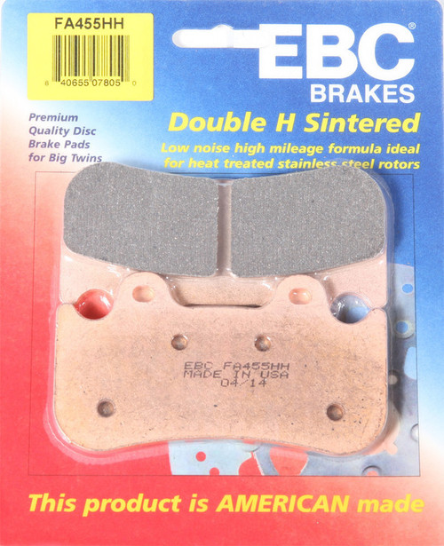 EBC Double-H Sintered Metal Brake Pads FA455HH