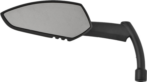 HARDDRIVE APACHE MIRROR W/KNIFE STEM MATTE BLACK LEFT (18-504L)