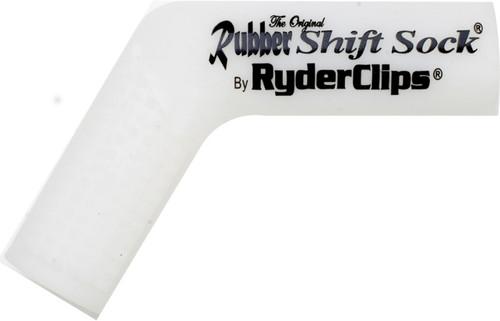 RYDER CLIPS RUBBER SHIFT SOCK (WHITE) (RSS-WHITE)