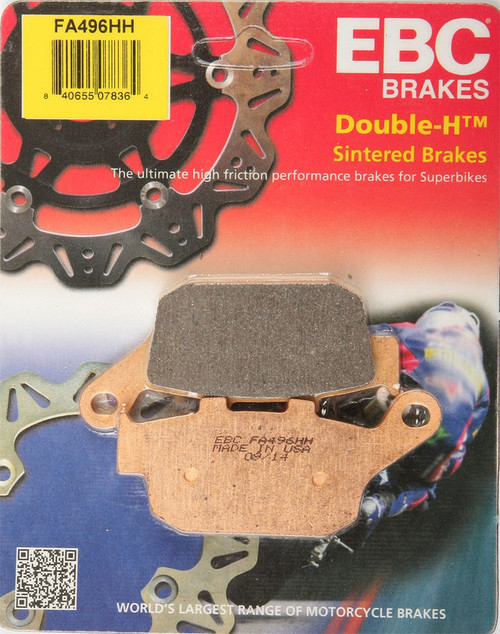 EBC Double-H Sintered Metal Brake Pads FA496HH