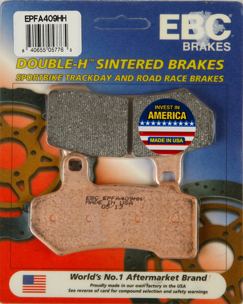EBC Double-H Sintered Metal Brake Pads EPFA409HH