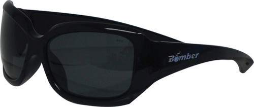 BOMBER SUGAR-BOMB FLOATING SUNGLASSES GLOSS BLACK W/SMOKE LENS (SG101)