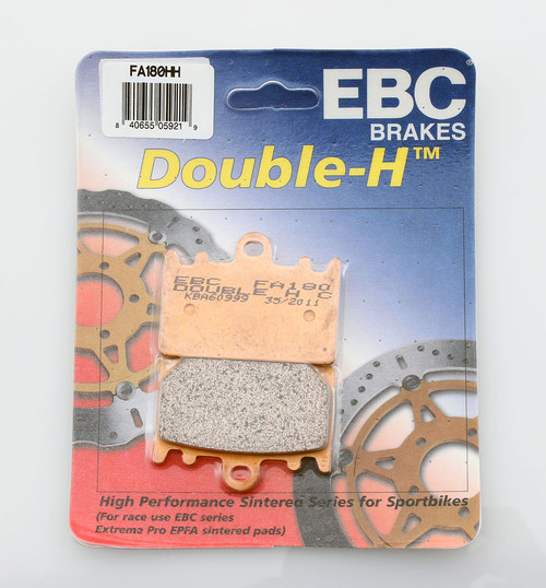 2 Packs - Enough for 2 Rotors EBC Double-H Sintered Metal Brake Pads FA158HH