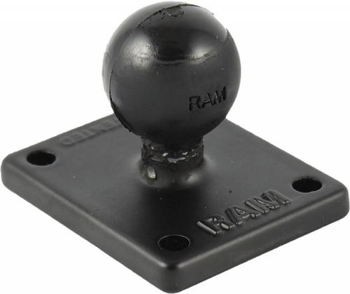 """RAM 2""""X1.7"""" BASE W/1"""" BALL INCLUDES AMPS HOLE PATTERN (RAM-B-347U)"""