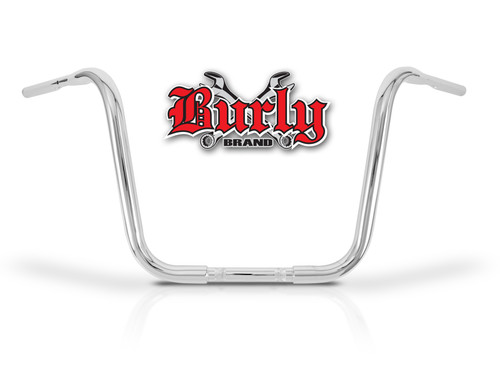 """Burly Fly By Wire Apehangers 14"""" Chrome 1.25"""" Tube (B28-347T)"""