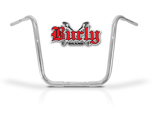 """Burly Fly By Wire Apehangers 16"""" Chrome 1.25"""" Tube (B28-344T)"""