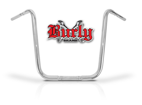 """Burly Fly By Wire Apehangers 18"""" Chrome 1.25"""" Tube (B28-345T)"""