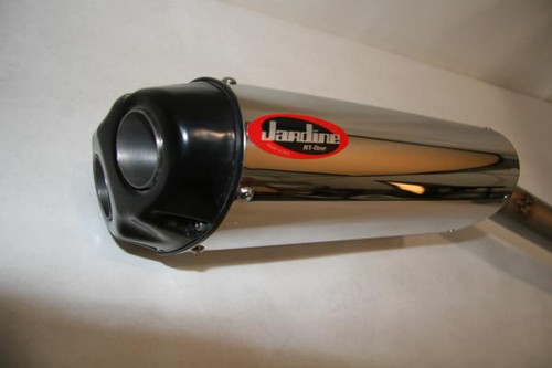Jardine RT1 Stainless Dual Outlet Slip On Exhaust Pipe ZX-6R INCL FNDR KIT 07 08