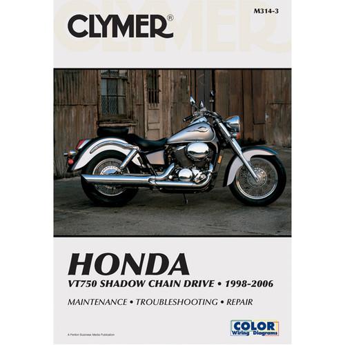 Clymer M314-3 Service Shop Repair Manual VT750 Shadow Chain Drive 1998-2006