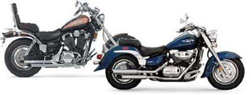 Jardine Rumbler Chrome Slipon Exhaust Pipe Muffler Yamaha XV7/10/11 Virago 84-00