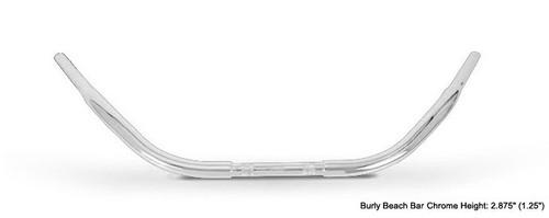 "Burly Beach Bars Chrome 1.25"" Tube Dimpled (B28-313T)"