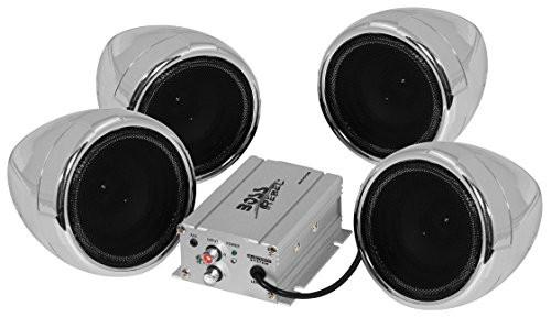 BOSS AUDIO 1000W 4-SPEAKER BLUETOOTH SOUND SYSTEM CHROME (MC470B)