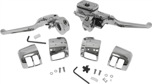 """HARDDRIVE 9/16"""" HANDLEBAR CONTROLS W/OUT SWITCHES (CHROME) (26-095)"""