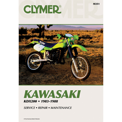 Clymer M351 Service Shop Repair Manual Kawasaki KDX200 83-88