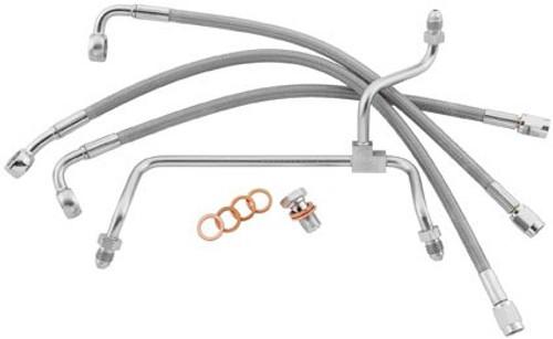 GOODRIDGE PREMIUM BRAKE LINE KIT SOFTAIL ABS FRONT (CLEAR) (HD82126-C)