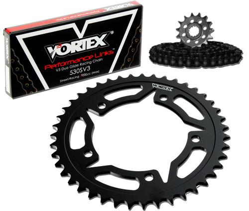 Vortex CK2141 Chain and Sprocket Kit WSS HON VFR800F 02-09 (STK,STL)