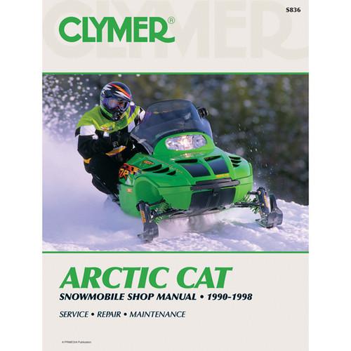 Clymer S836 Service Shop Repair Manual Arctic Cat Snowmobile 90-98