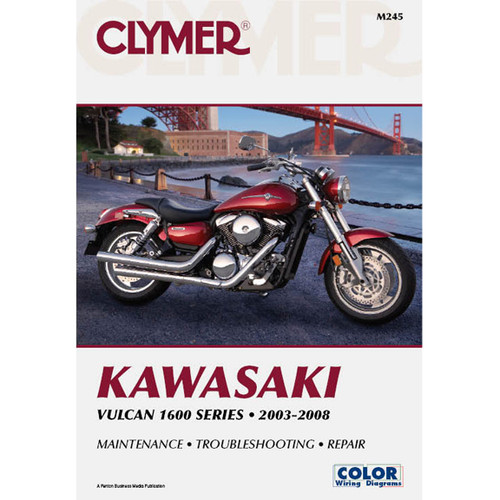 Clymer M245 Service Shop Repair Manual Kawasaki Vulcan 1600 Series 2003-2008