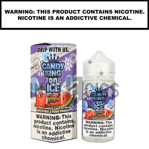 Strawberry Watermelon Bubble Gum on ICE - 100 ML (3mg)