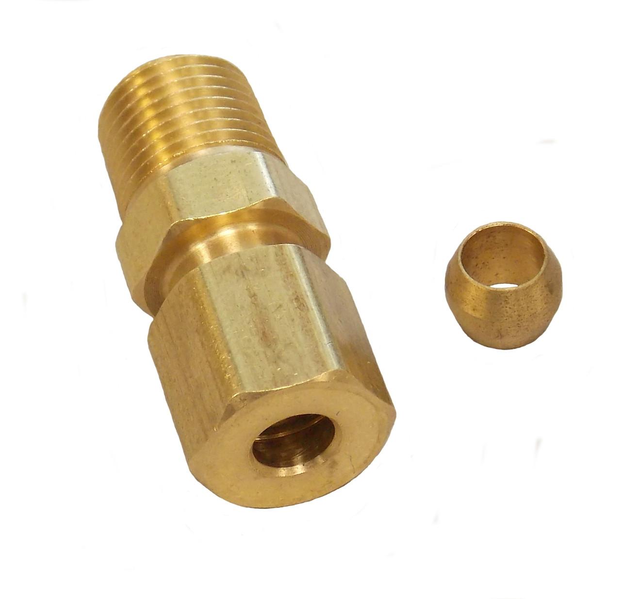 2100B 3/16 x 1/8 MPT Compression Fitting