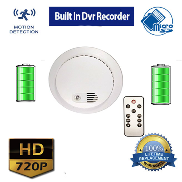Smoke Detector Hidden Spy Camera With Built In 720p Hd Dvr Recorder