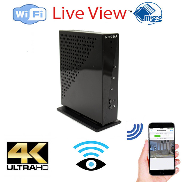 4K Ultra Hd Router WiFi + Dvr Hidden Spy Camera With Wireless Streaming Video for PC, Tablet & more