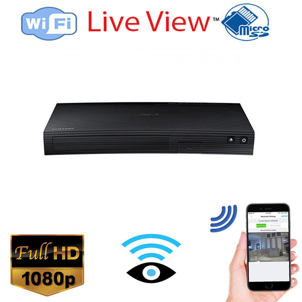 1080p Hd Blu Ray Player Wireless Hidden Spy Camera for iPhone/Android Phone/ iPad Remote View with Motion Detection