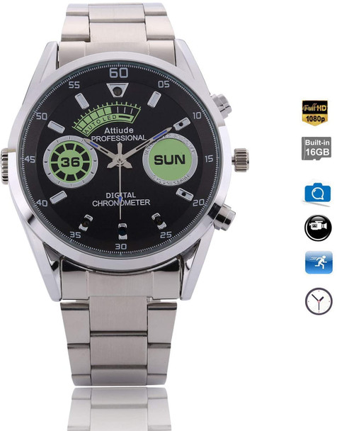 Built In Dvr Watch Camera with Night Vision