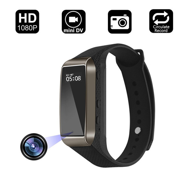 Smart Watch Hidden Camera-1080P HD, Wristband With Steps Calorie Counter, Smart Time Display For iOS&Android