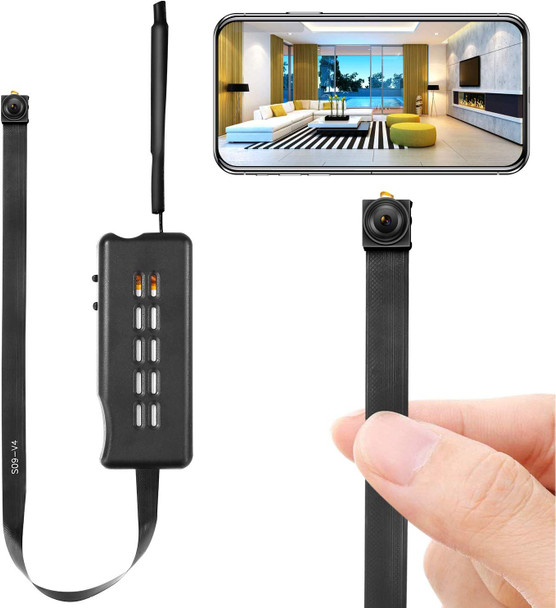 Mini WireCamera Module Wireless Hidden Camera WiFi Mini Cam HD 1080P DIY Tiny Cams Small Nanny Cameras Home Security Live Streaming Through Android/iOS App Motion Detection Alertsless Small WiFi Camera 1080P
