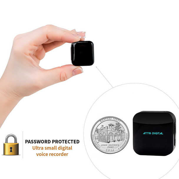 Mini Voice Recorder - Voice Activated Recording - 286 Hours Recordings Capacity - up to 24 Hours Battery Life - Password Protection