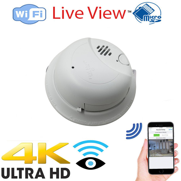 smoke Detector WiFi Surveillance Camera Dvr With Wireless Streaming Video for Iphone, Tablet and More (Hard Wired)