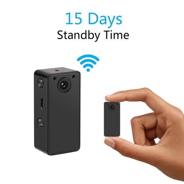 WiFi Security Camera With for Remote View with iOS & Android Devices– Night Vision & 15 Days Standby Time