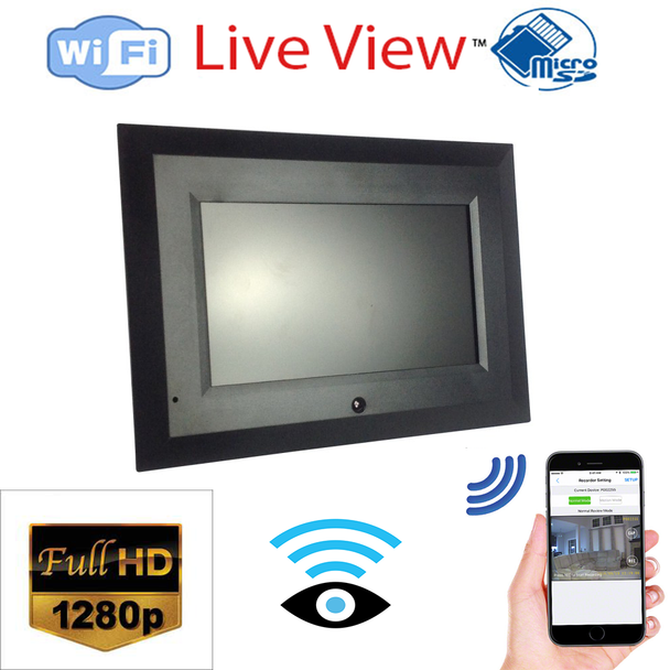 1280p HD Digital Picture Frame Hidden Spy Camera W/ Live View WiFi + Dvr and Streaming Video for PC, Tablet & more