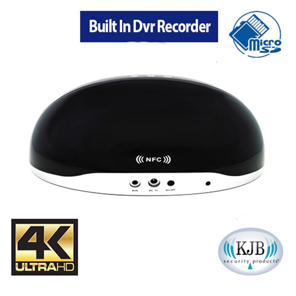 Zone Shield 4K Bluetooth Speaker DVR - 32 Gig Sd Card Included